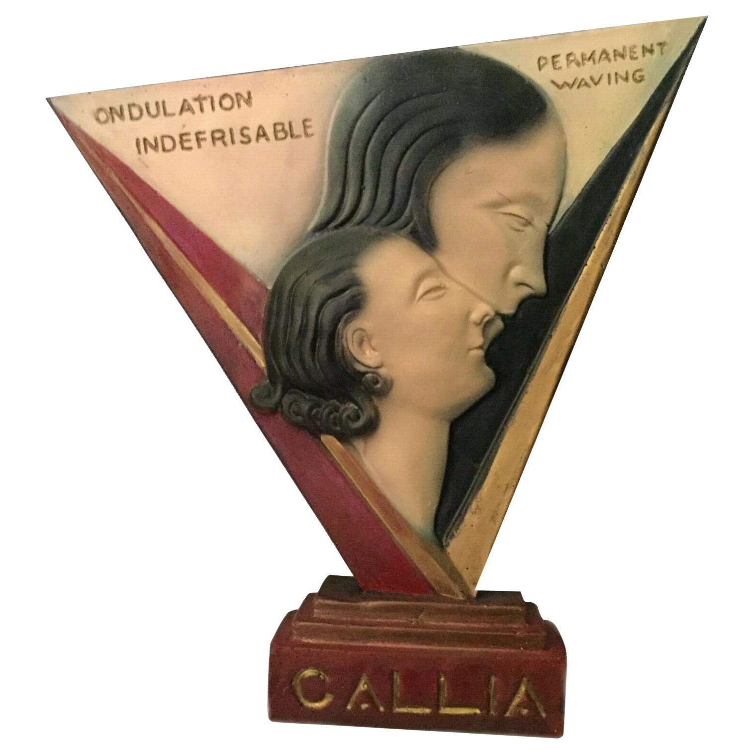 Art Deco Large Advertising Stand, Circa 1930's