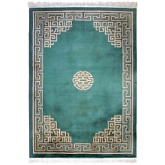Art Deco Large Chinese Rug with Intricated Decor