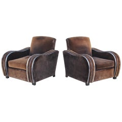 Art Deco Large Club Chairs