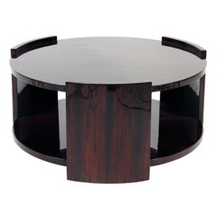 Art Deco Large Rosewood Round Coffee Table