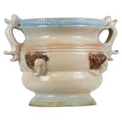 Art Deco Large Stoneware Planter with Handles, Cachepot
