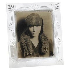 Art Deco Lead Glass Photo Frame with Photography
