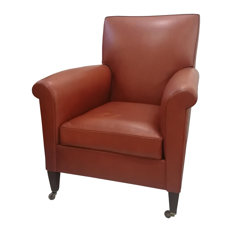 Art Deco Leather Armchair, circa 1930