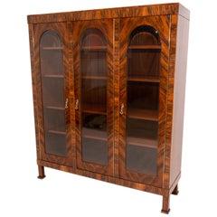 Art Deco Library Cabinet, 1930's, Bohemia
