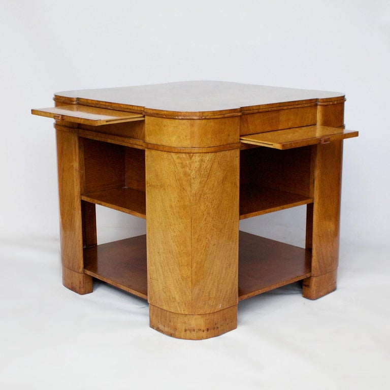 Art Deco Library Table, English, circa 1930 For Sale 2