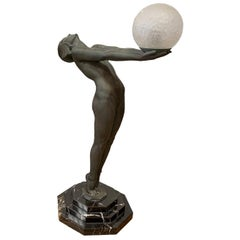Art Deco Light Statue by Max Le Verrier Called Clarte