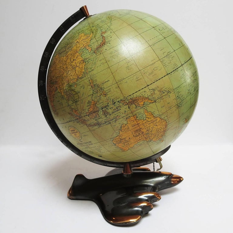 This wonderful globe was created by Weber-Costello Co. Of Chicago. This