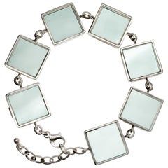 Art Deco Style Bracelet Natural Green Amethysts Collection Featured in Vogue
