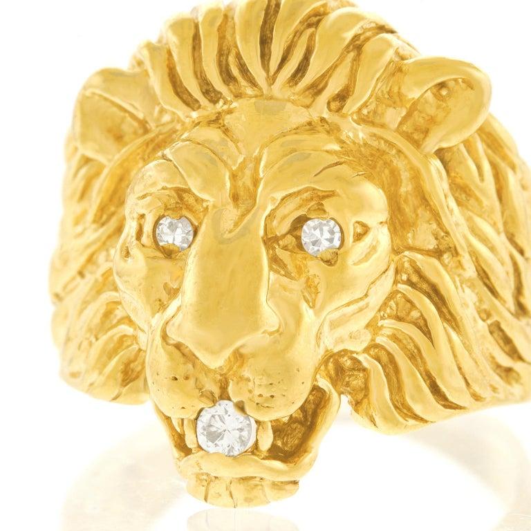 Art Deco Lion Diamond-Set Ring 1