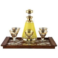 Art Deco Liqueur Set by De Rupel, Boom, Belgium, with Serving tray, circa 1935