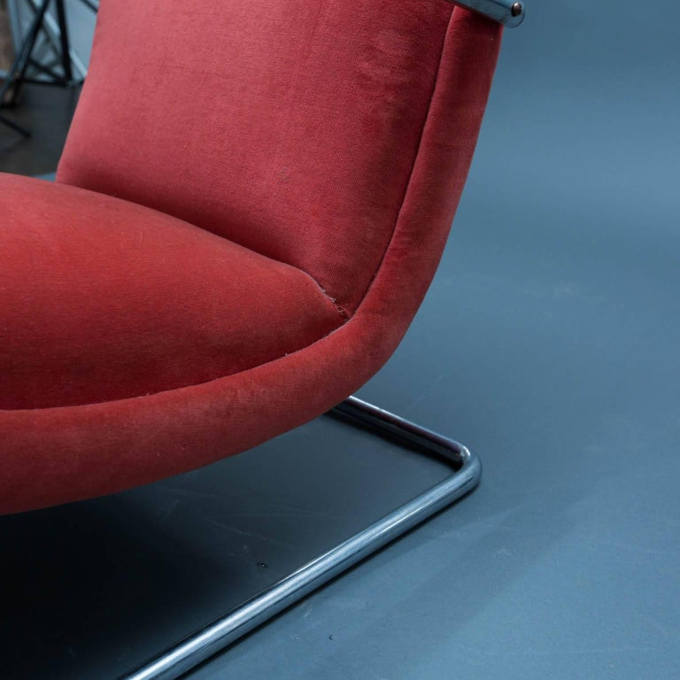 Stainless Steel Art Deco Lloyd Lounge Chair For Sale
