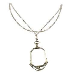 Art Deco Lorgnette with Chain