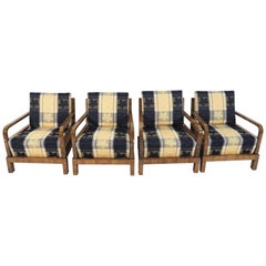 Art Deco Lounge Chairs, 1940s, Set of 4