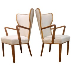 Art Deco Lounge Chairs Svenska Kontorsmöbler, Sweden, 1940s