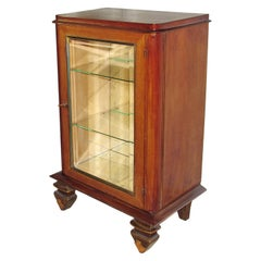 Art Deco Luminous Vitrine, Dry Bar, Display Cabinet, Leleu Style, France, 1940s