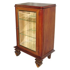 Art Deco Luminous Vitrine, Dry Bar, Display Cabinet, Leleu Style, France, 1940s