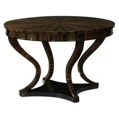 Art Deco Macassar Center Table