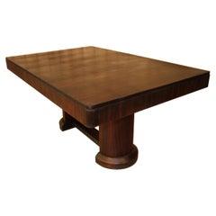 Art Deco Macassar Dining Table