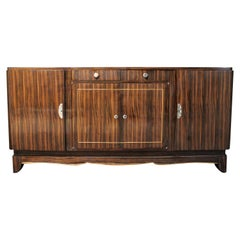 Art Deco Macassar Ebony Credenza in the Manner of Émile-Jacques Ruhlmann