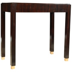 Art Deco Macassar Ebony Side Table