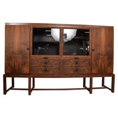 Art Deco Macassar Grand Cabinet Bruno Paul Bauhaus Germany for DW Hellerau 1930s