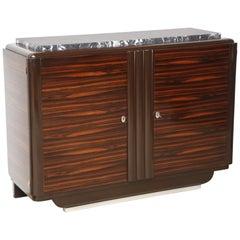 Art Deco  Midcentury Macassar Sideboard Marble Top