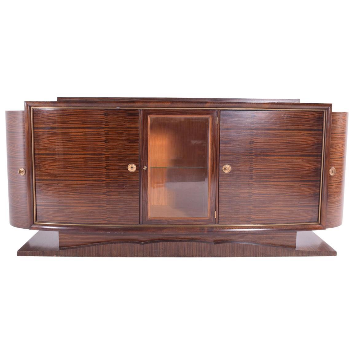Art Deco Macassar Sideboard