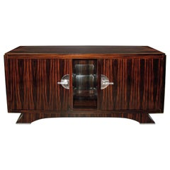 Art Deco Macassar Sideboard, France, 1940s