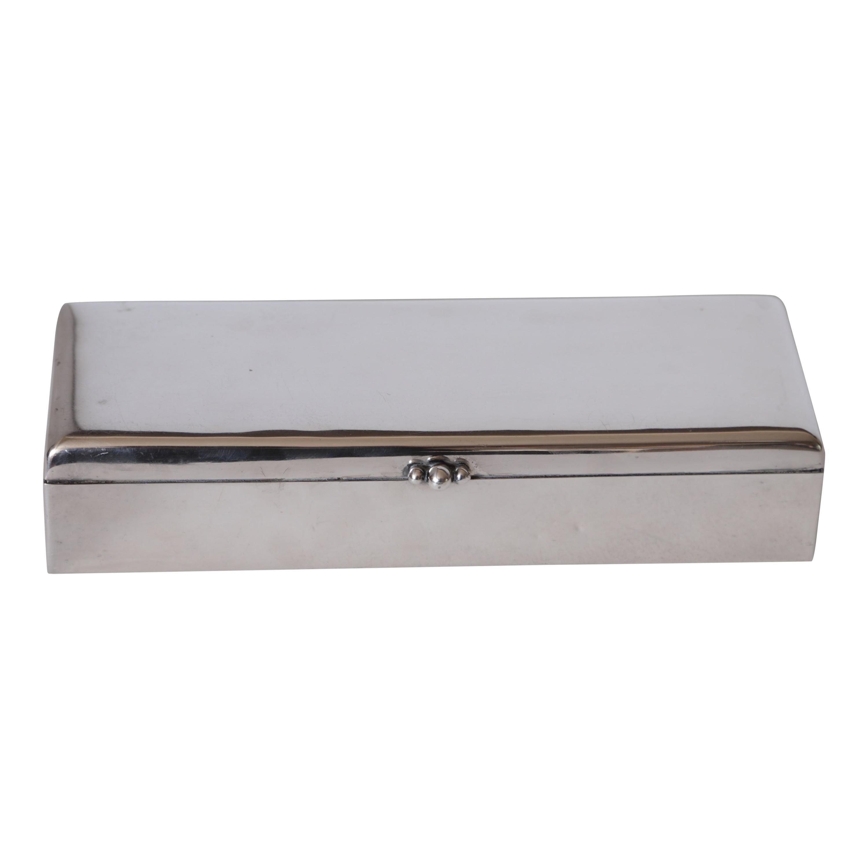 "Art Deco Machine Age Albert Feinauer Barbour Silver ""Preference"" Modernist Box"