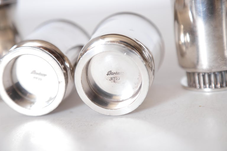 Art Deco Machine Age Albert Feinauer Silver Plate Cocktail Cups Barbour Silver For Sale 6