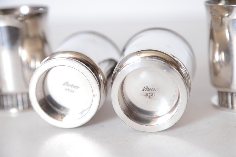 Art Deco Machine Age Albert Feinauer Silver Plate Cocktail Cups Barbour Silver For Sale 1