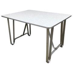 Art Deco Machine Age Aluminum Dining Table Console