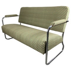 Art Deco / Machine Age Chrome Settee Designed by Gilbert Rohde for Troy Sunshade
