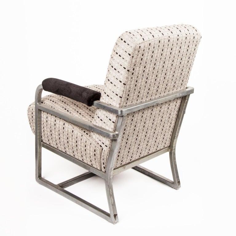 Machine Age Art Deco machine Age Chrome Steel Lounge Chair after Raymond Loewy For Sale