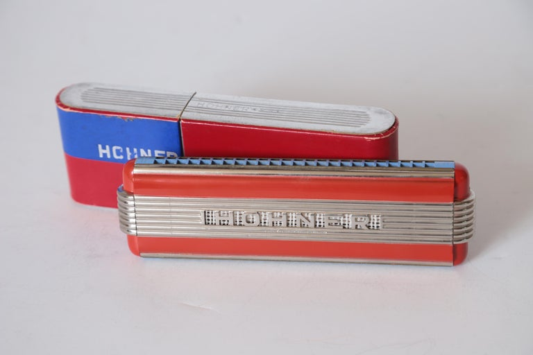 Art Deco Machine Age John Vassos Streamline Harmonica for Hohner, circa 1936 For Sale 5