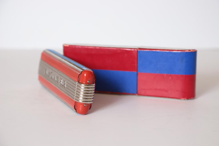 Art Deco Machine Age John Vassos Streamline Harmonica for Hohner, circa 1936 For Sale 7