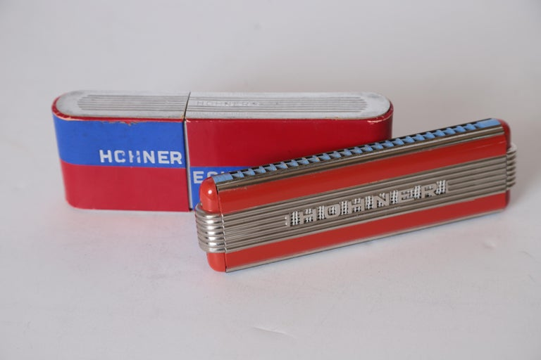 Art Deco Machine Age John Vassos streamline Harmonica for Hohner, circa 1936