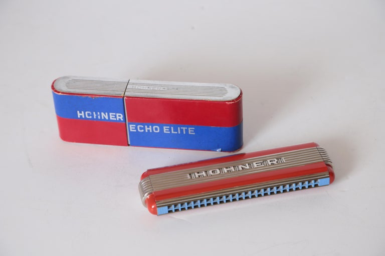 Enamel Art Deco Machine Age John Vassos Streamline Harmonica for Hohner, circa 1936 For Sale
