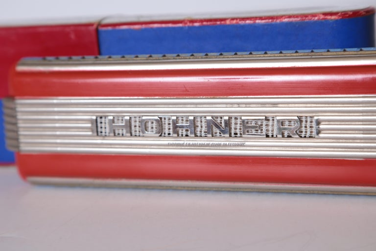 Art Deco Machine Age John Vassos Streamline Harmonica for Hohner, circa 1936 For Sale 1