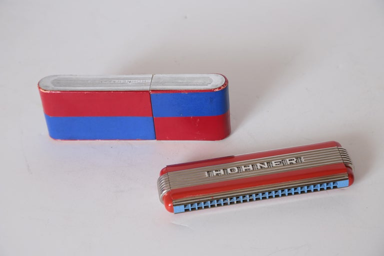 Art Deco Machine Age John Vassos Streamline Harmonica for Hohner, circa 1936 For Sale 3