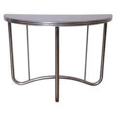 Art Deco Machine Age Manner of Wolfgang Hoffmann Demi, Lune Side End Table