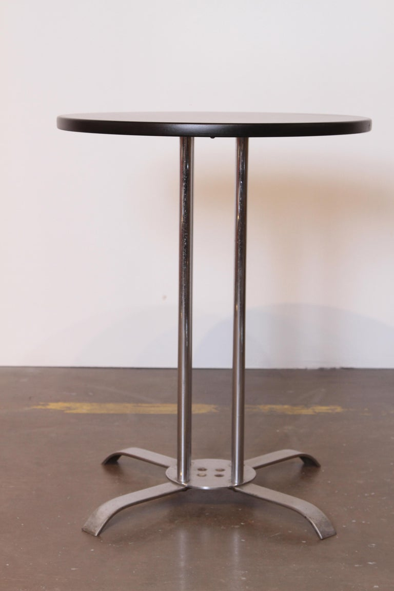 Art Deco Machine Age McKay craft occasional table lamp table McKaycraft chrome black lacquer