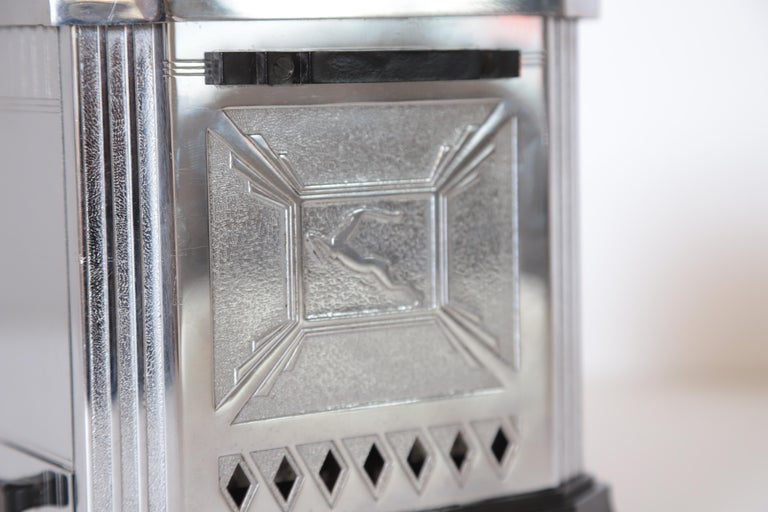 Art Deco Machine Age Raymond Patten Iconic Patented Skyscraper Hotpoint Toaster For Sale 10