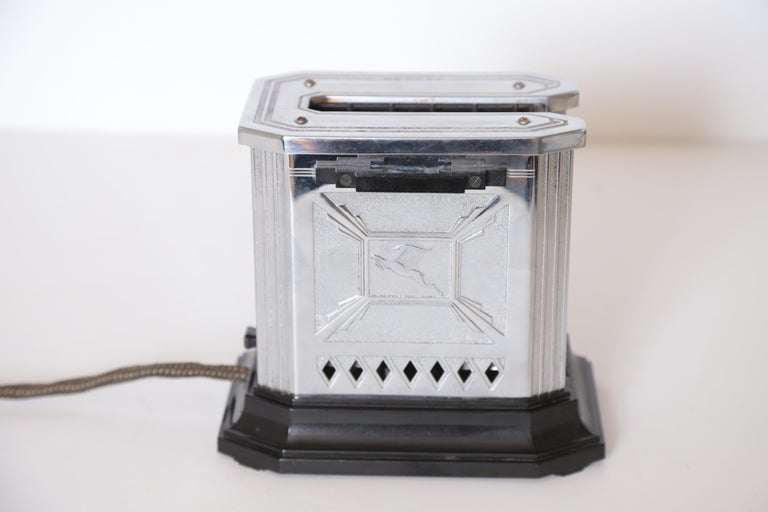 Art Deco Machine Age Raymond Patten iconic patented Skyscraper Hotpoint toaster