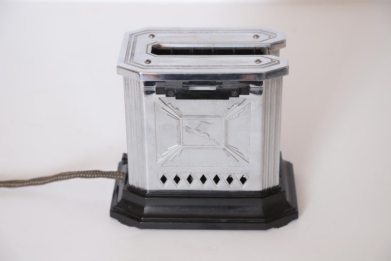 Art Deco Machine Age Raymond Patten Iconic Patented Skyscraper Hotpoint Toaster For Sale 3