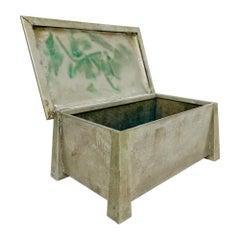 Art Deco Machine Age Silver Nickel Box by Fatima L&M T Co