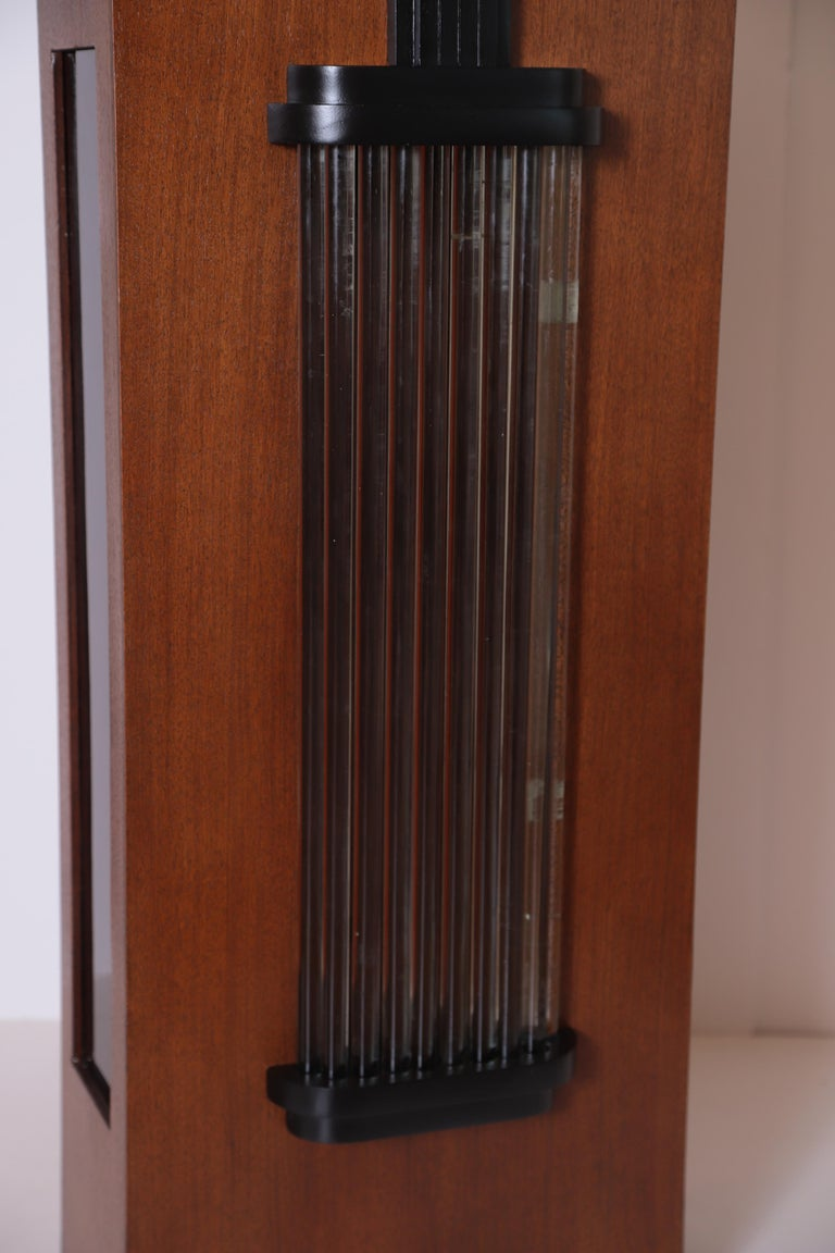 Art Deco Machine Age Skyscraper Lighted Stand with Glass Rods / Ebonized Details For Sale 6