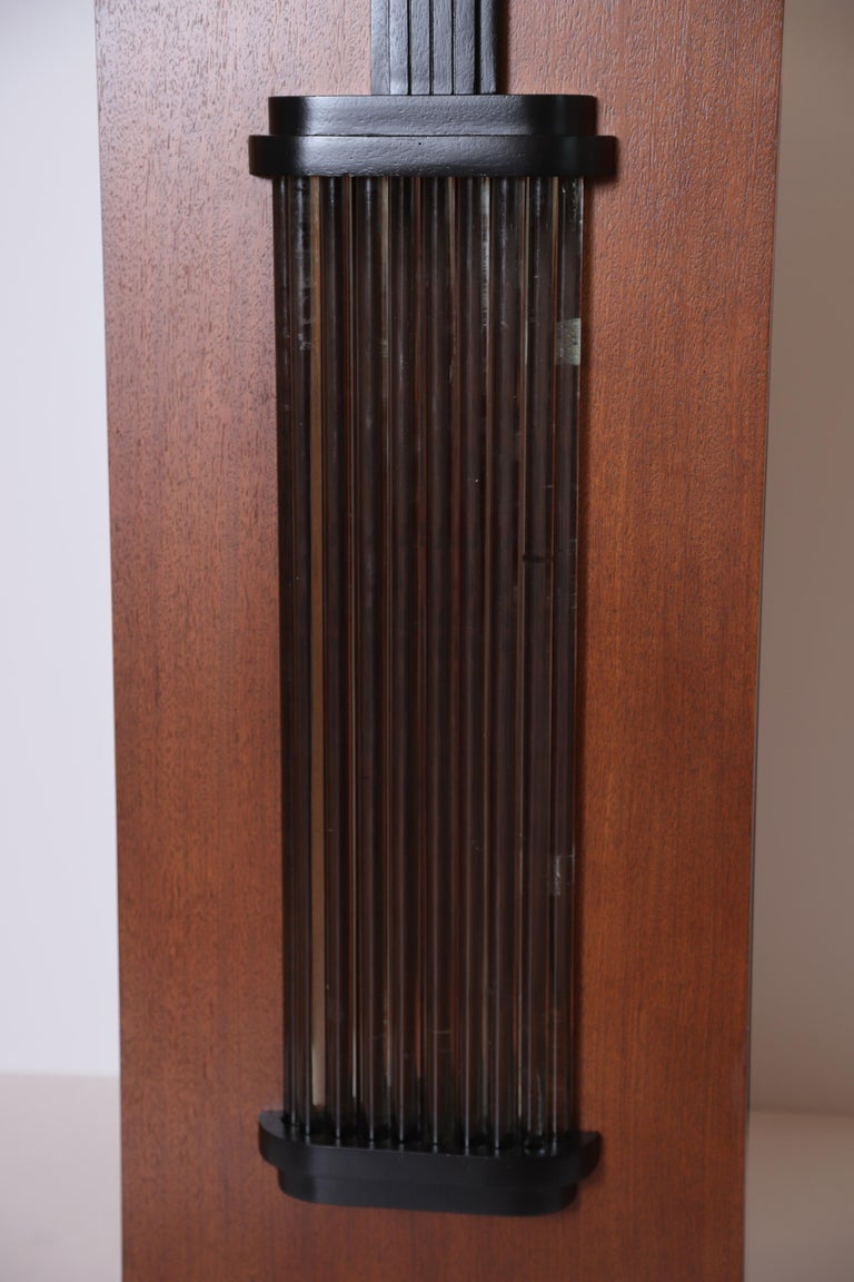 Art Deco Machine Age Skyscraper Lighted Stand with Glass Rods / Ebonized Details For Sale 9