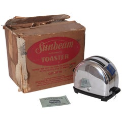 Art Deco Machine Age Sunbeam T-9 Toaster, Iconic Mint Original Display Model