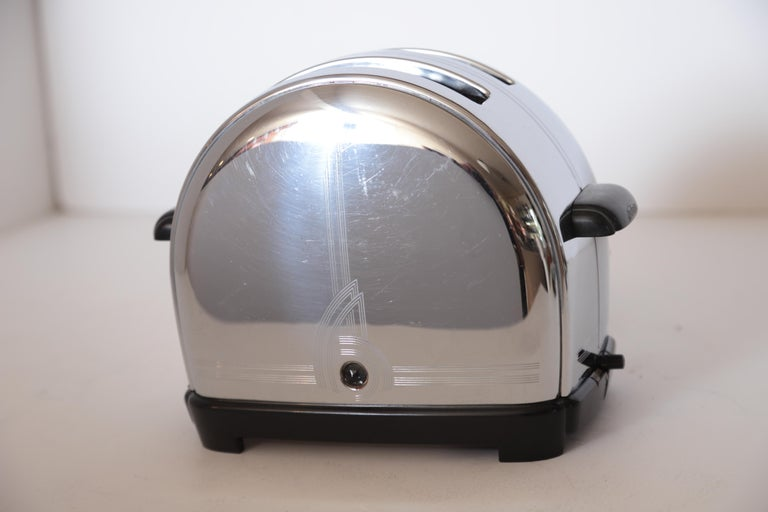 Art Deco Machine Age Sunbeam T-9 Toaster Iconic Patented Complete Breakfast Set For Sale 5